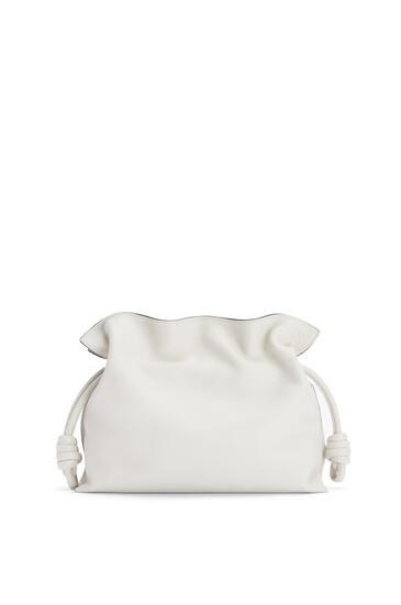 LOEWE Flamenco clutch in nappa calfskin Soft White pdp_rd