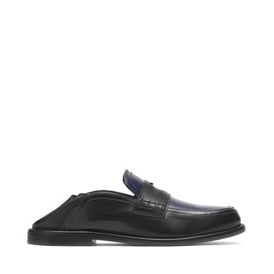 LOEWE Slip On Loafer Heart Black/Navy Blue front