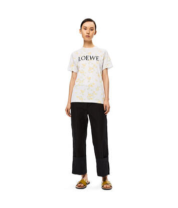LOEWE Flower Print Loewe T-Shirt White/Yellow front