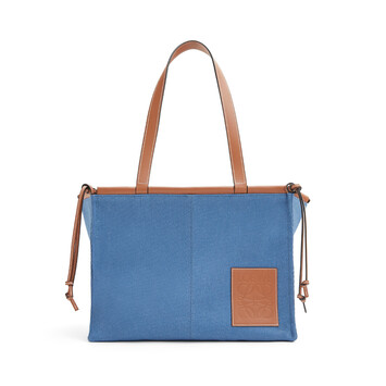 LOEWE クッショントート Steel Blue front