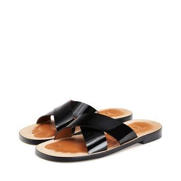 LOEWE 十字交叉凉鞋 黑色 front