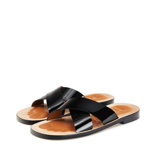 LOEWE Criss Cross Foot Sandal Black front