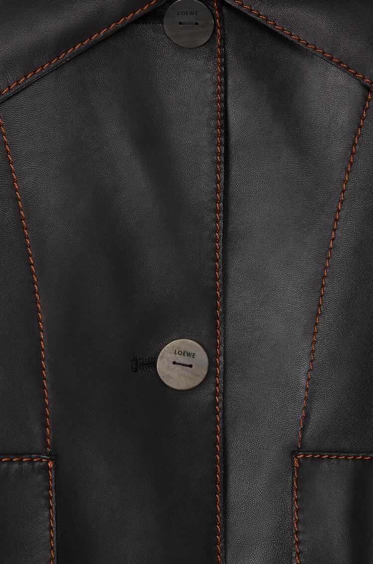 LOEWE Chaqueta en napa con botones Negro pdp_rd