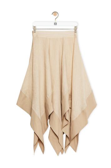 LOEWE Handkerchief Skirt In Linen 米色 front