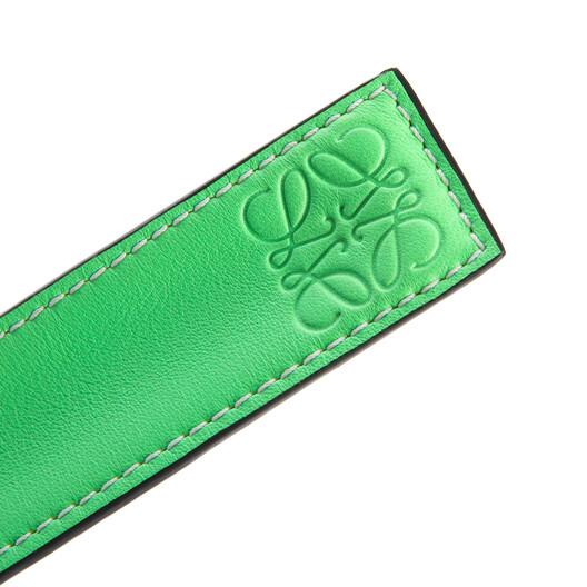 LOEWE Small Slap Bracelet In Classic Calfskin Neon Green front
