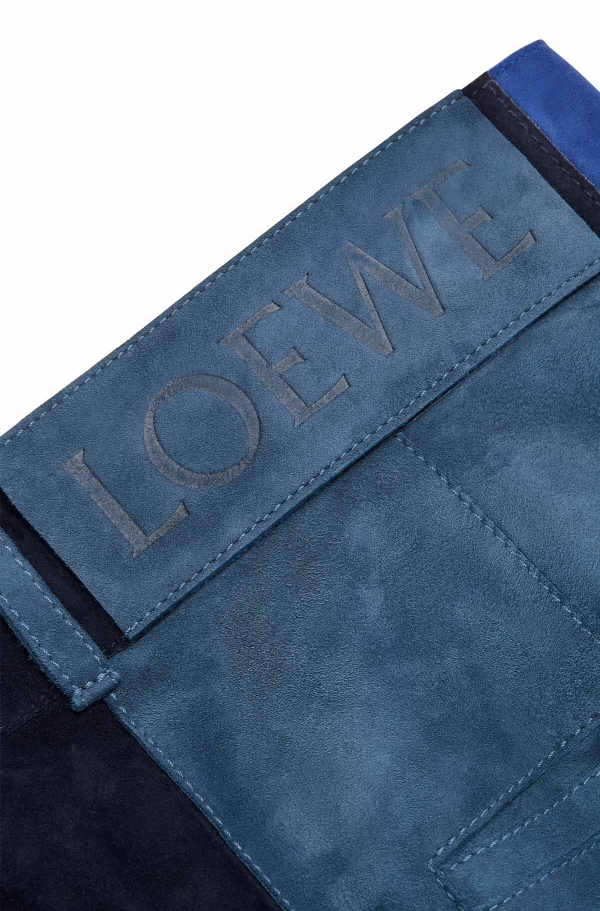 LOEWE Trousrs Suede Panels & Textile 蓝色/白色 all