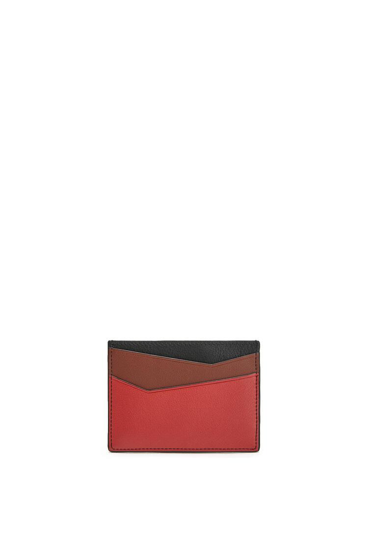 LOEWE Puzzle Plain Cardholder In Classic Calfskin Pomodoro/Black pdp_rd