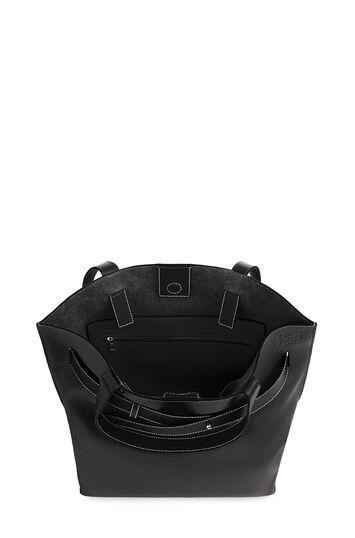 LOEWE ストラップ バーティカル トートバッグ ブラック front