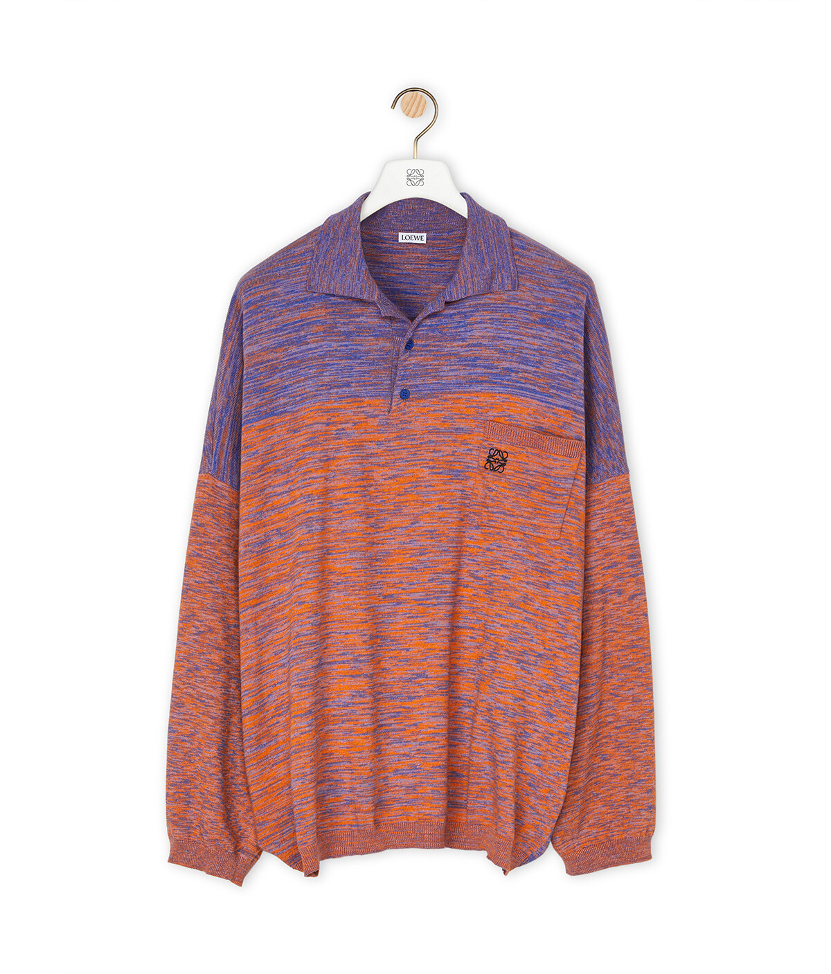 LOEWE Melange Ov Poloneck Sweater Purple/Orange front
