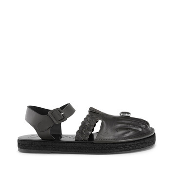 LOEWE Sandal Toes Black front
