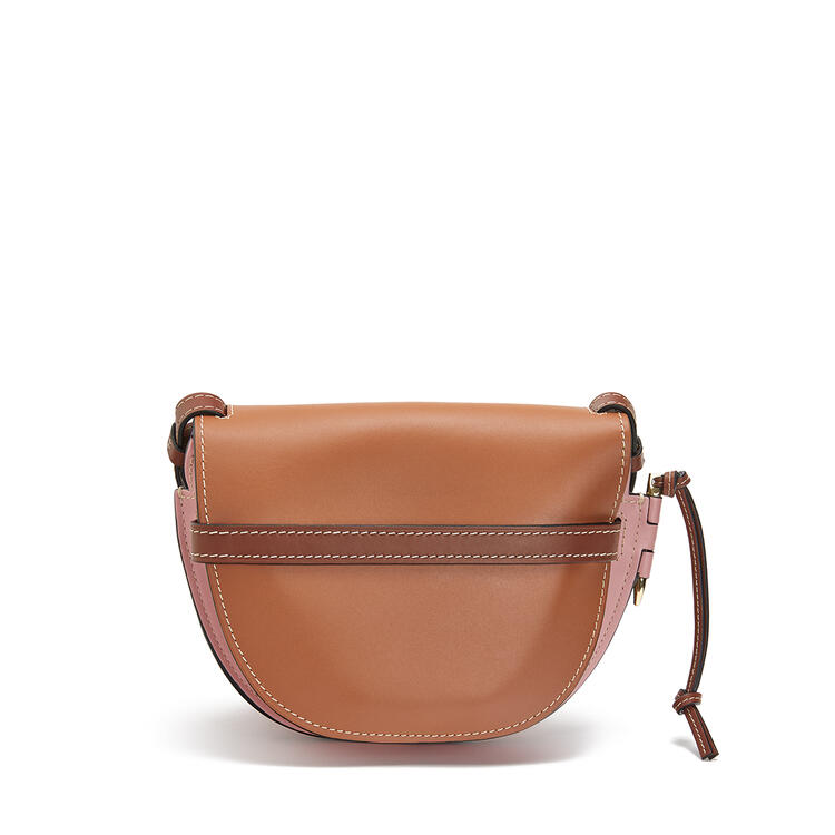 LOEWE 小号柔软牛皮革 Gate 手袋 Tan/Medium Pink pdp_rd