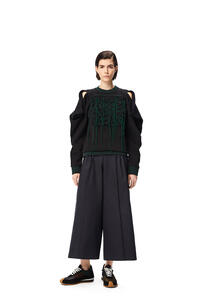 LOEWE Anagram stitched sweatshirt in cotton Green/Black pdp_rd