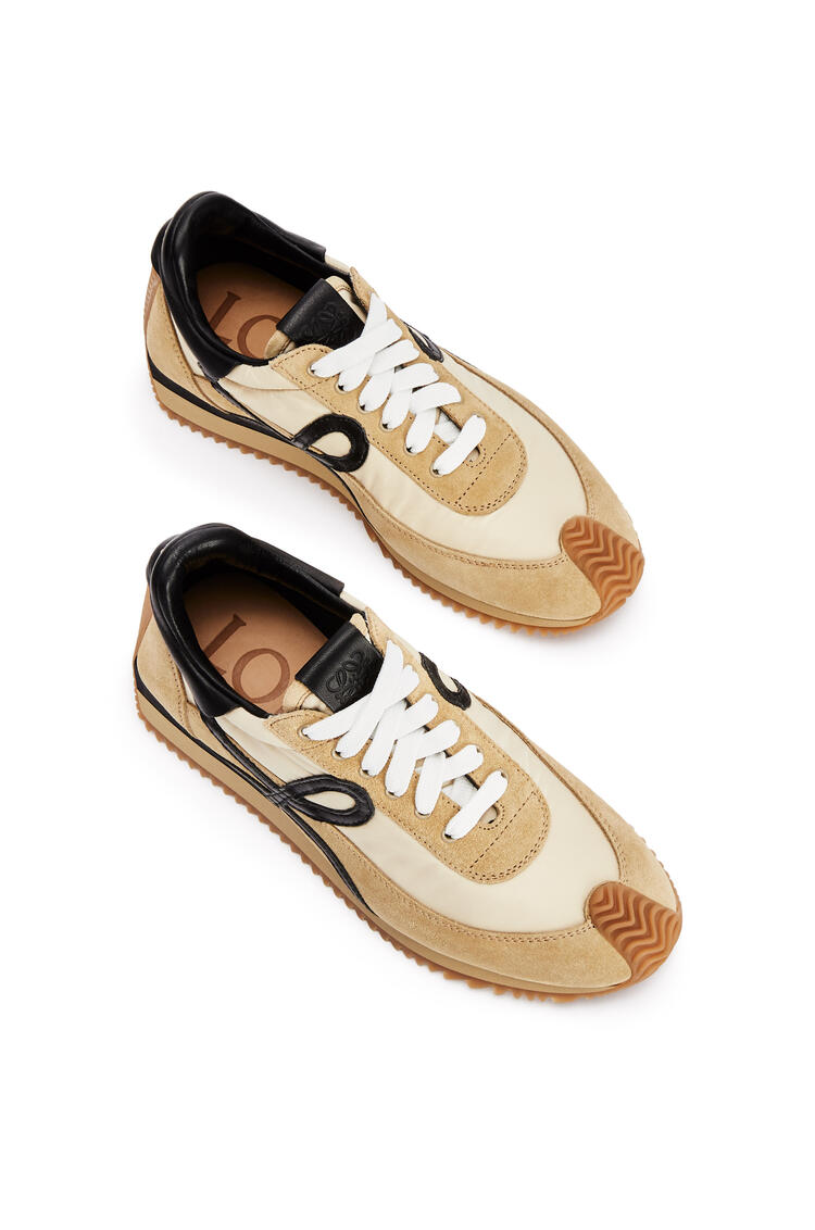 LOEWE Flow runner in suede and polyester Gold/Black pdp_rd