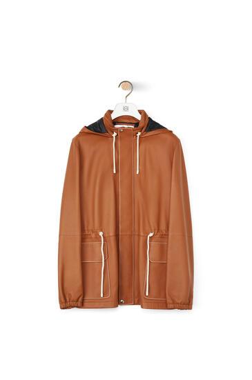LOEWE Light hiking jacket in nappa 棕褐 pdp_rd