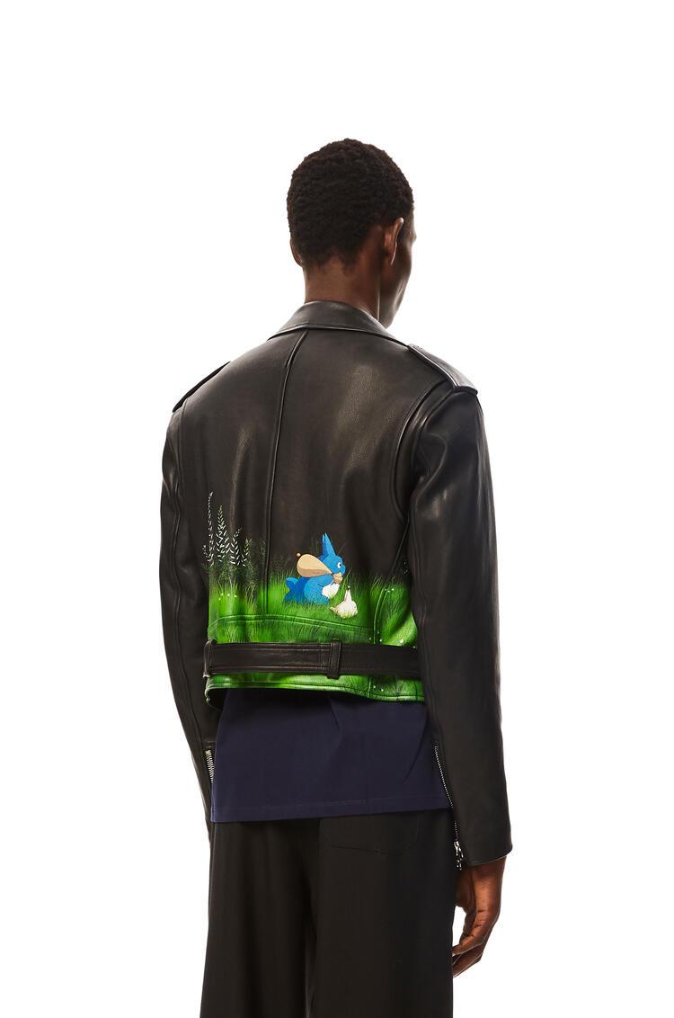 LOEWE Landscape Totoro biker jacket in nappa Black pdp_rd