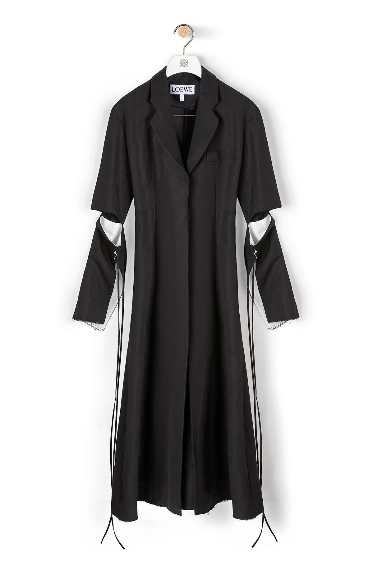 LOEWE Cut Sleeve Coat Black front