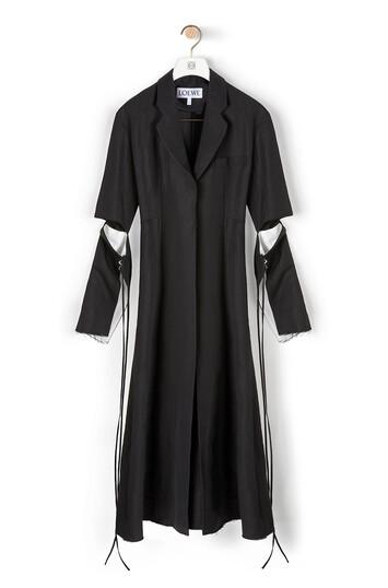 LOEWE Cut Sleeve Coat 黑色 front
