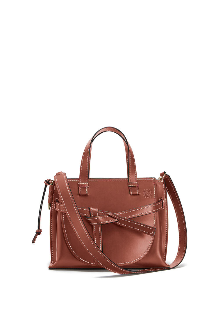 LOEWE Small Gate Top Handle bag in natural calfskin Rust Color pdp_rd