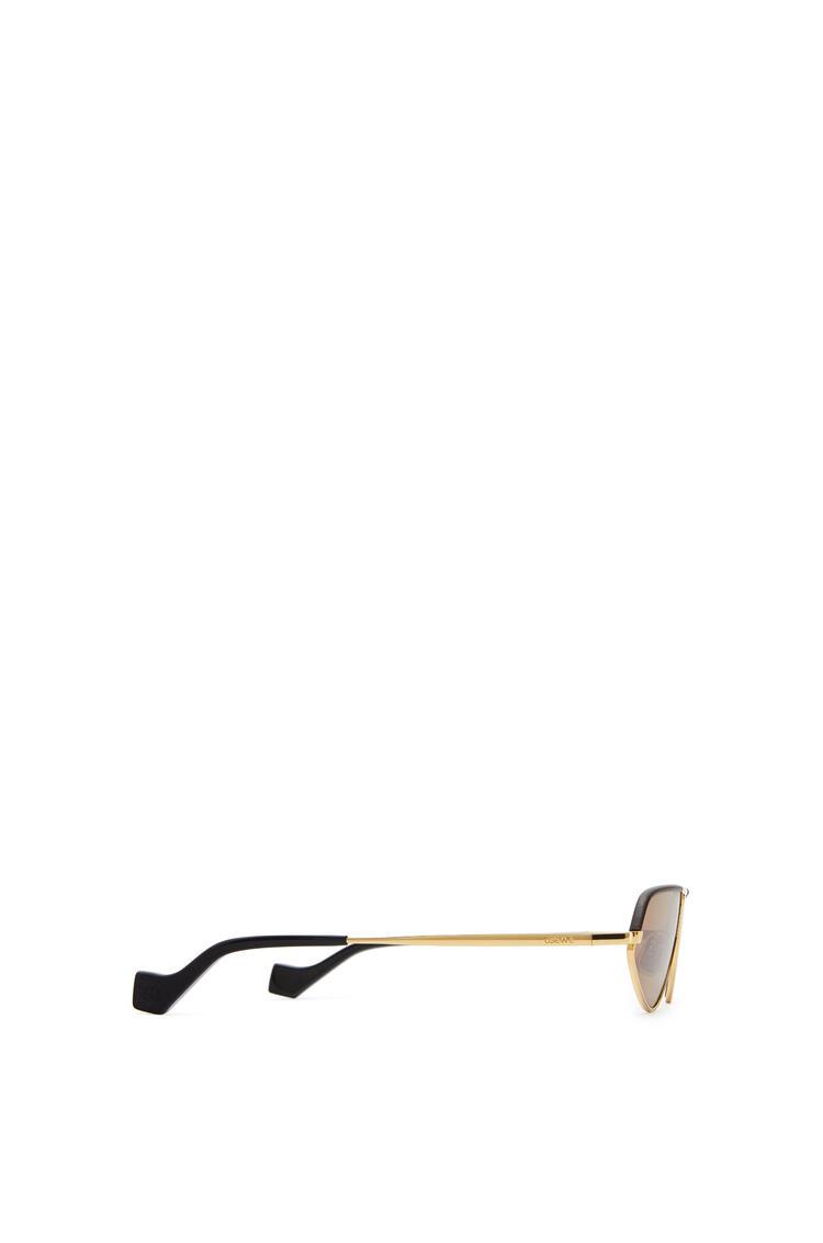 LOEWE Leather geometric sunglasses Capuccino pdp_rd