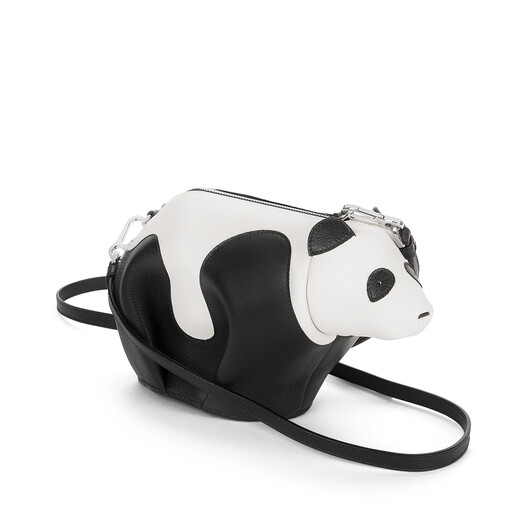 LOEWE Panda Mini Bag Black/White front