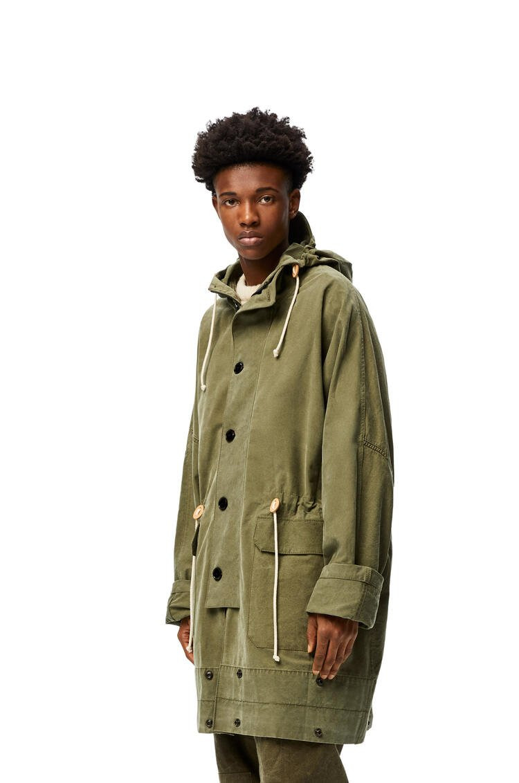 LOEWE Military tent parka in cotton Military Green pdp_rd