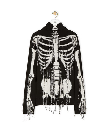 LOEWE Skeleton Sweater Black/White front