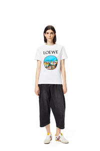 LOEWE L.A. Series print t-shirt in cotton White/Multicolor pdp_rd