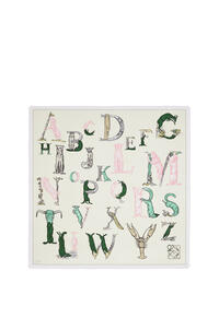 LOEWE Alphabet scarf in silk Light Yellow pdp_rd
