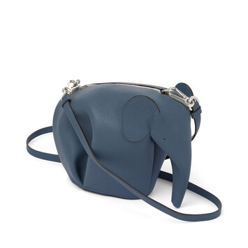 LOEWE エレファント ミニ バッグ Steel Blue front