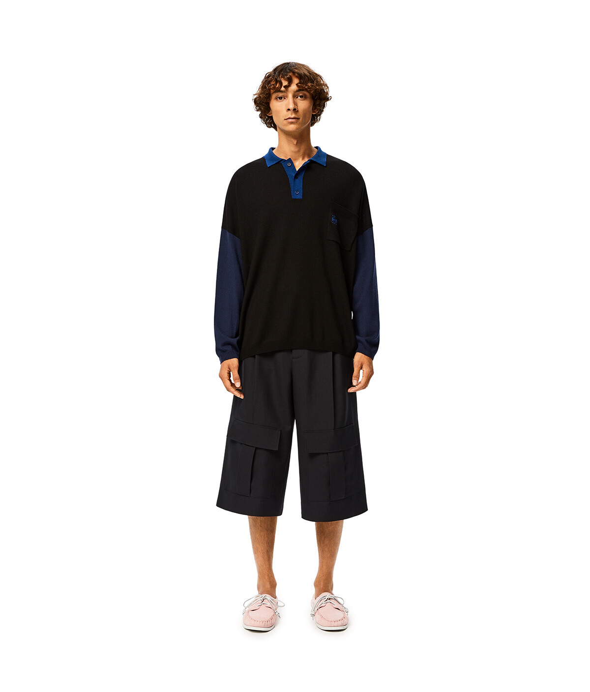 LOEWE Ov Poloneck Sweater Black/Blue front