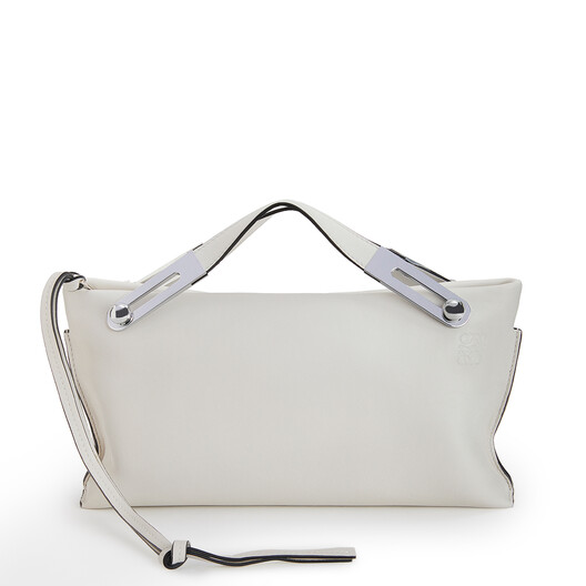LOEWE Missy Small Bag Soft White front
