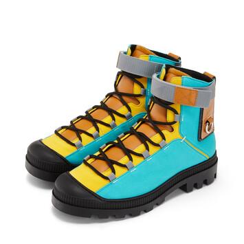 LOEWE Hiking Boot Eln 綠松石色/棕褐色 front