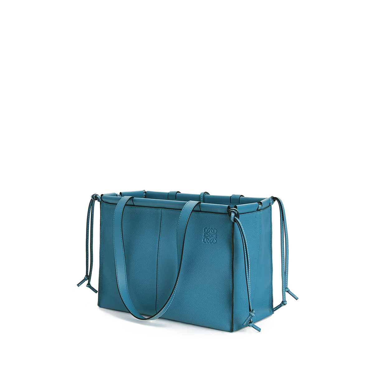 LOEWE Cushion Tote Small Bag Dark Lagoon front
