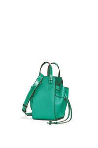 LOEWE Mini Hammock Drawstring bag in soft grained calfskin Emerald Green pdp_rd