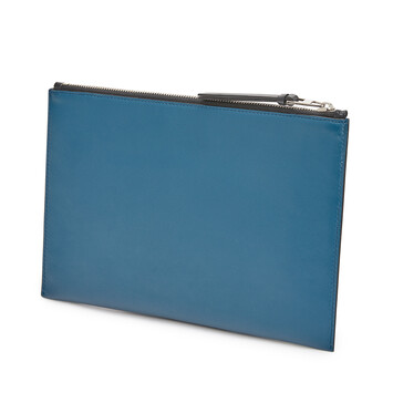 LOEWE Brand Flat Pouch 靛藍 front