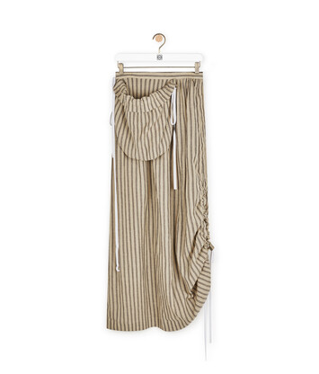 LOEWE Stripe Pocket Skirt Sand/Brown front