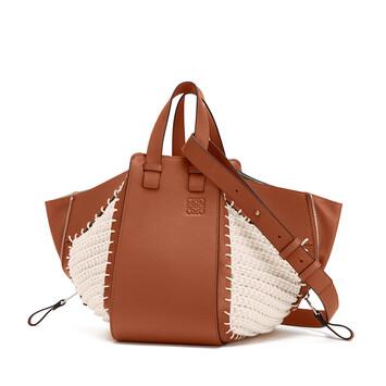 LOEWE Hammock Knit Small Bag Tan/Natural front