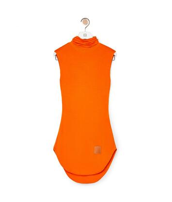 LOEWE High Neck Slvless Top Orange front