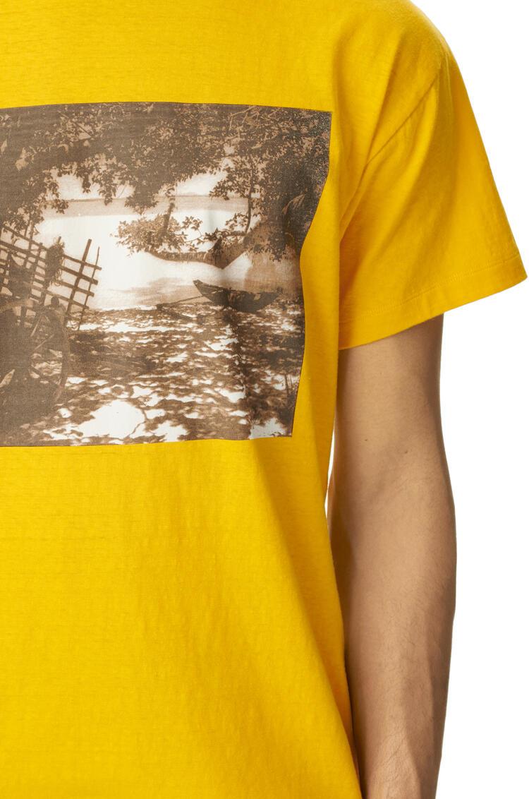 LOEWE Photo print t-shirt in cotton Yellow pdp_rd