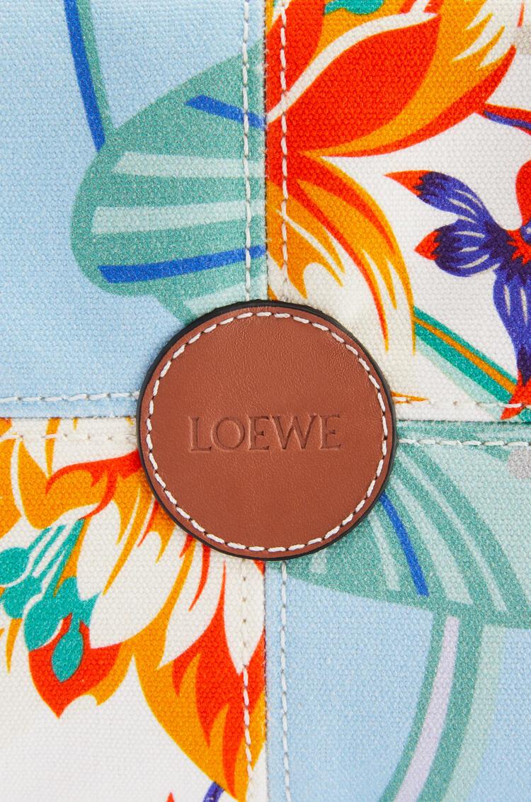 LOEWE クッショントート スモール(プリント キャンバス&カーフスキン) Aqua/White pdp_rd