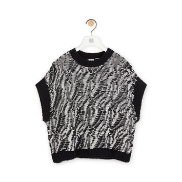 LOEWE Graphic Sleeveless Sweater Black/White front