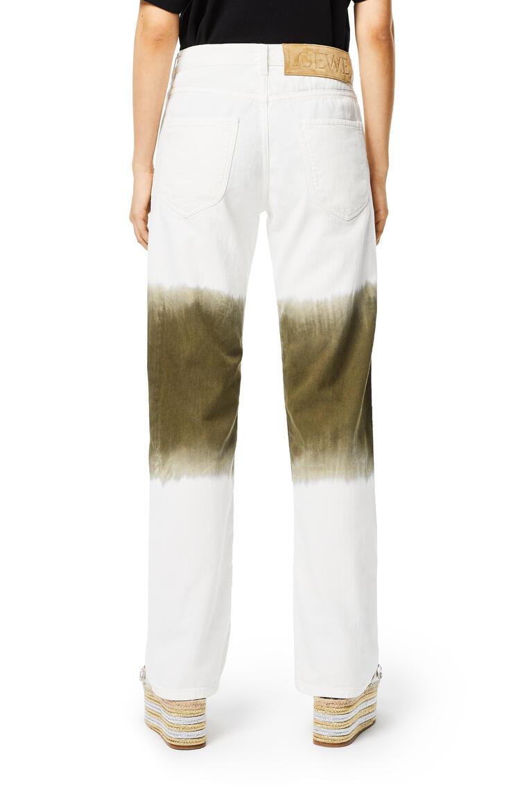 LOEWE Jeans in tie dye cotton White/Khaki Green pdp_rd