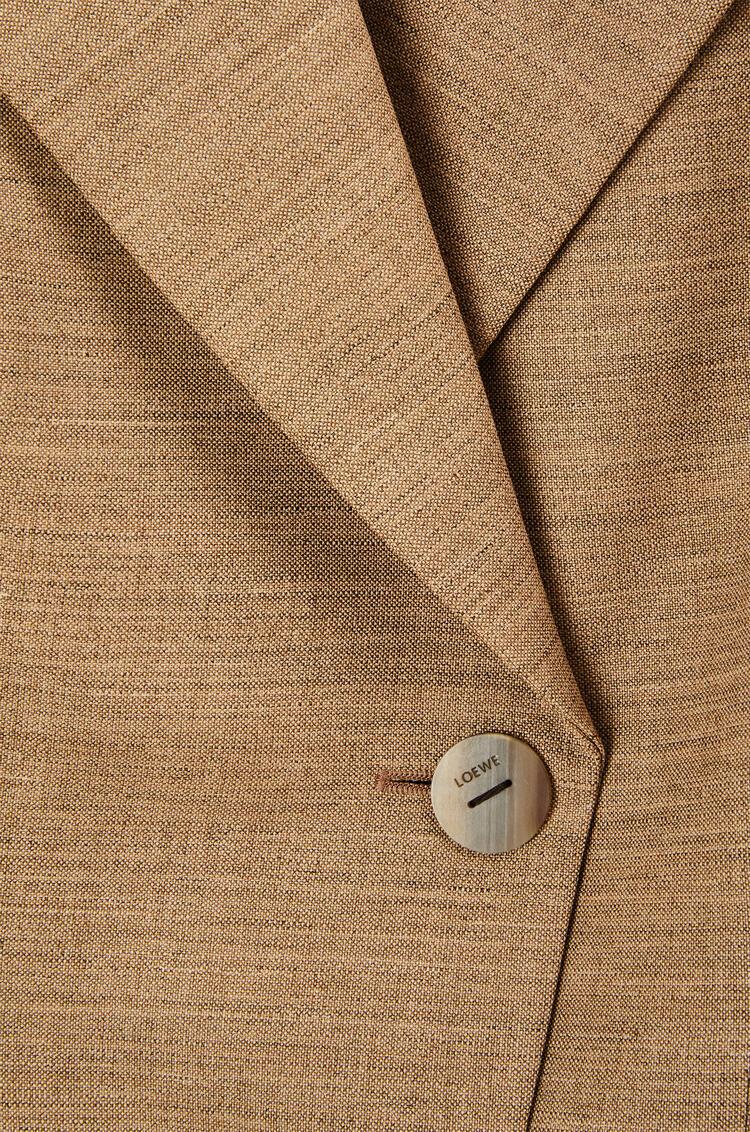 LOEWE Chaqueta en lana con mangas con cordón Beige/Blanco pdp_rd
