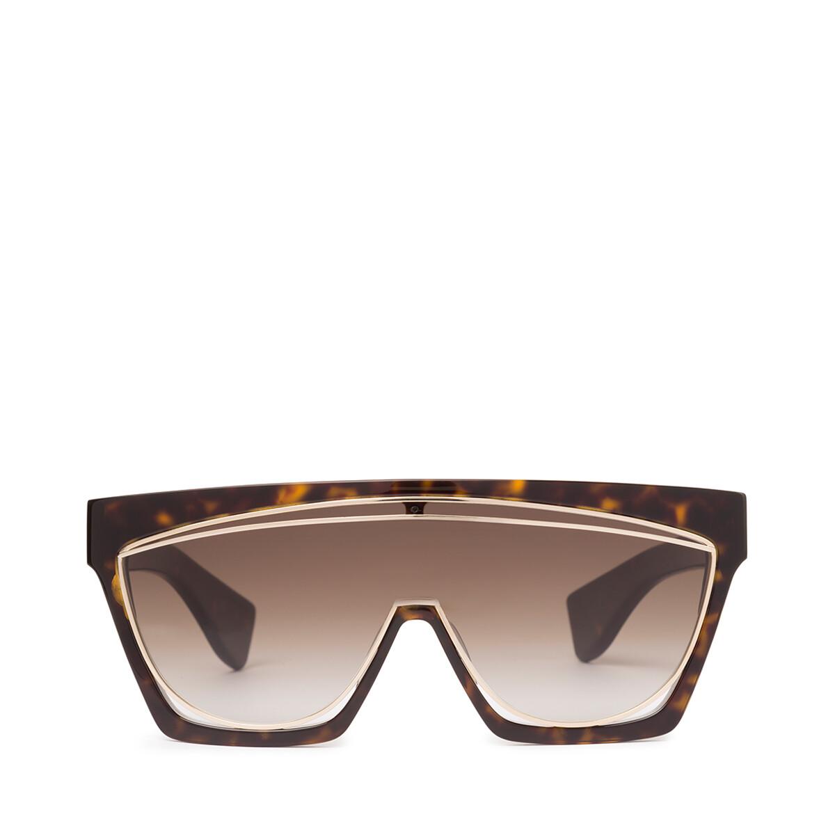 LOEWE Masque Sunglasses Dark Havana/Gradient Brown front