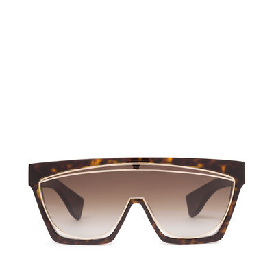 LOEWE マスクサングラス Dark Havana/Gradient Brown front