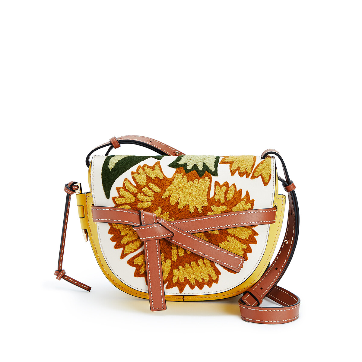 LOEWE Gate Floral Small Bag Yellow front