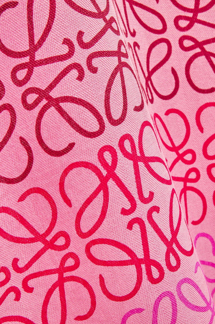 LOEWE Anagram lines scarf in wool and cashmere Pink/Multicolor pdp_rd