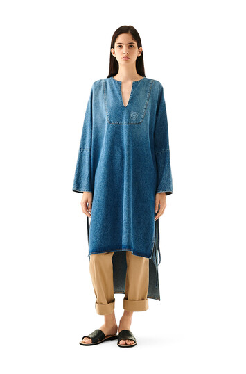 LOEWE Denim Tunic Dress washed denim front