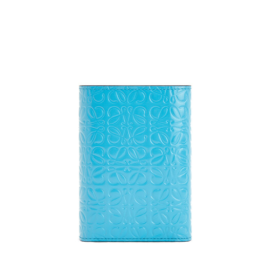 LOEWE Small Vertical Wallet Peacock Blue front