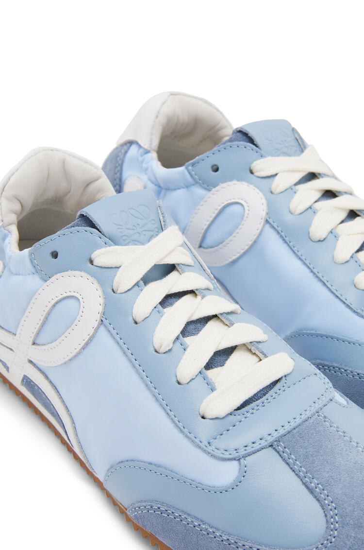 LOEWE Ballet runner in nylon and leather Light Blue pdp_rd